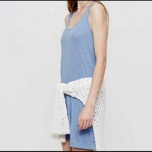 LOU & GREY | light blue ribbed tank dress xs
